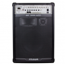 Caixa de Som Amplificada Multiuso Frahm - MP 3000 APP Bluetooth 1500W