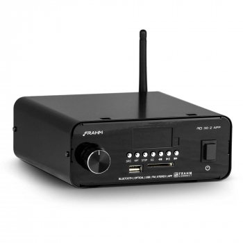 Amplificador - Receiver para Som Ambiente Frahm - RD 30.2 APP Bluetooth Optical