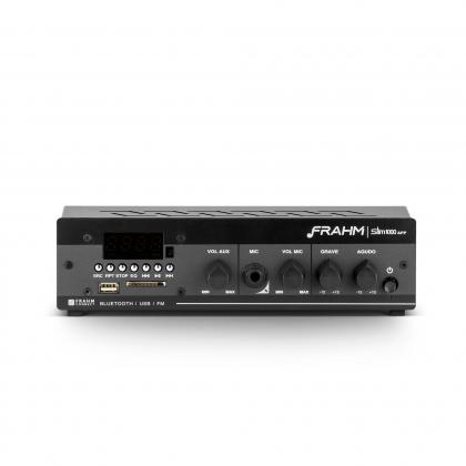 Amplificador - Receiver para Som Ambiente Frahm SLIM 1000 APP Bluetooth 40W