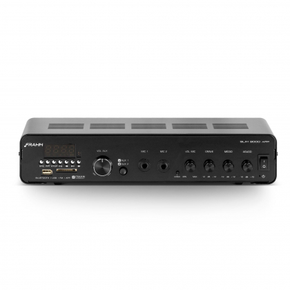 Amplificador - Receiver para Som Ambiente Frahm  SLIM 3000 APP Bluetooth 200W